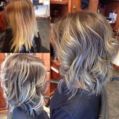 Silver Ombre | Ariel Lizarraga - Santa Maria, CA, United States. Before and After of ...