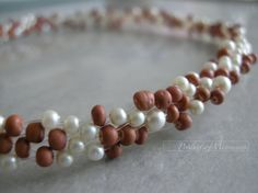 gift party fashion pearl necklace weaved with от productsofme, $6.90