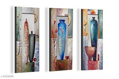 Paintings & Posters Attractive Trendy Wall Posters  Material: MDF  Size- (L X W ): 36 cm X 45 cm Description: It Has 3 Pieces Of Wall Poster Work: Printed Country of Origin: India Sizes Available: Free Size   Catalog Rating: ★4.1 (6086)  Catalog Name: Navratri Multicolor Attractive Trendy Wall Posters Vol 5 CatalogID_622663 C127-SC1611 Code: 391-4339496-792