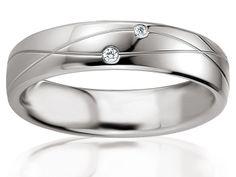 Alliance de mariage en Argent, Blanc, Alliance Breuning, 48-08075-48A