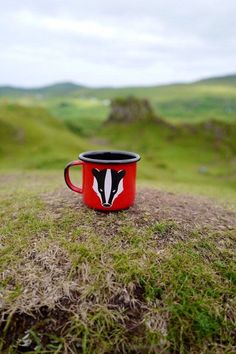 Badger Enamel Mug camping mug woodland animal forest image 5
