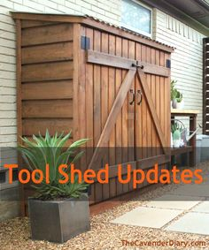 Online Toolshed Updated by the Cavender Diary Boys/ Customizing a toolshed.