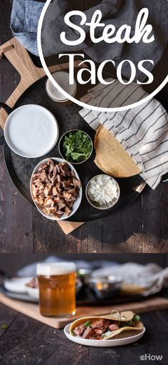 Steak tacos are a culinary skill to keep in your back pocket. You need a simple week night meal? They're perfect. A casual dinner party idea? They won't let you down. A meal to serve for your buddies who came over to watch the game? These are what you need. http://www.ehow.com/how_2306587_make-steak-tacos.html?utm_source=facebook.com&utm_medium=referral&utm_content=freestyle&utm_campaign=fanpage