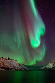 Aurora borealis ... it looks like God is throwing paint at the Earth ;)