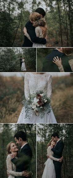 Forest wedding couple shoot with touches of vintage and a moody, dreamy setting | Page
