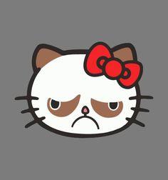 A Trending Atheist and Antitheist Tattoo: Hell NO Kitty   Hello Kitty meets Grumpy Cat. *lmao*