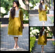Kurta as a dress. Dress Indian Style, Indian Dresses, Indian Wear, Indian Outfits, One Piece Dress, I Dress, Simple Gowns, Western Dresses, Churidar
