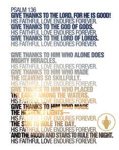 Psalm 136 #psalm #Scripture #Bible #God #GideonsCanada