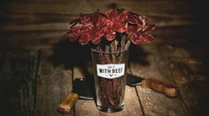 More than likely any man would appreciate receiving one of these Beef Jerky Rose Bouquets.  Ladies are you looking for that perfect Valentine's Day gift for your husband/boyfriend/son? Well look no further, theBeef Jerky Rose Bouquets