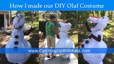 Everyone is asking for my husband's DIY Olaf Costume Instructions. Here is a summarized step by step guide to get you started on your own Olaf Costume! - Page 4