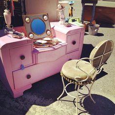 Pink Vintage Vanity Set ($75)