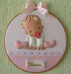 Ateliê do Bebê MG: Quadrinho Bastidor Bebê Menina.