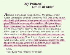 Let go of guilt.