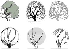 Architectural graphics Trees - CAD Blocks, free dwg file.
