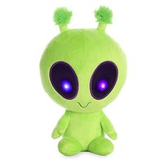 Sewing Stuffed Animals Twitch the Light Up Green Alien Stuffed Animal by Aurora - Recommended For Ages 3 Alien Aesthetic, Aesthetic Space, Billy Kid, Alien Plush, Alien Party, Space Grunge, Cute Alien, Sewing Stuffed Animals, Space Aliens