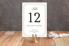 Classy Type Wedding Table Numbers by Kimberly FitzSimons at minted.com