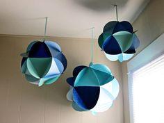 TuTo : Un mobile de globes de papier | Ju2Framboise