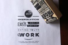 E01´s rubber stamps by Nahuel Corbellini, via Behance