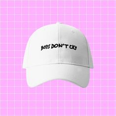 BOYS DON'T CRY CAP by FOREVERONLINE FREE SHIPPING WORLDWIDEUNISEX: 56-68CM