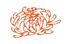 Chrysanthemum graphic - convert to knitting chart