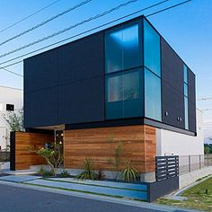House Minimalist Facade Modern Homes Ideas Facade Design, Exterior Design, House Design, Minimalist Architecture, Interior Architecture, Church Architecture, Living Room Styles, Box Houses, Exterior House Colors