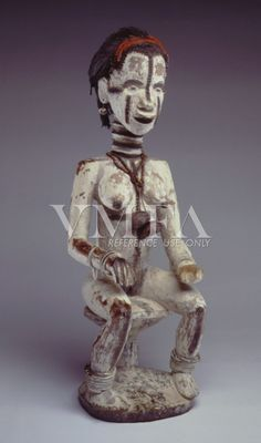 Property of the Virginia Museum of Fine Art | Seated Woman | 19th-20th century | unknown artist | wood, kaolin, paint, hair, metal, nutshells