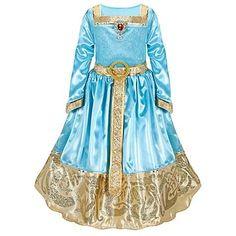 Disney Store Brave Princess Merida Formal Costume Dress Size XS 4 - present logo