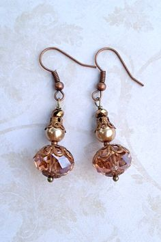 Beautiful crystal earrings.  Handmade in Milan, Italy.