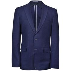 Boss Tailoring Nobis Wool Blazer ($690) ❤ liked on Polyvore featuring mens, men's clothing, sportcoats and navy