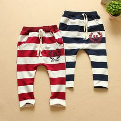 Cheap Pants, Buy Directly from China Suppliers:2015 spring new style baby boys girls pants children striped letter harem full length trousersmaterial: 100% cottonse