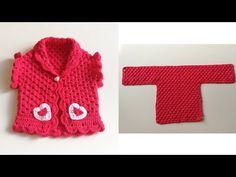 Tek Parca 🌷T 🌷Yelek Nasıl Örülür? - YouTube Crochet Doll Clothes, Barbie, Baby Dress, Cool Designs, Girl Fashion, Bikini, Youtube, Sweaters, Dresses