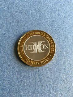 eBay #Sponsored HILTON LOGO $1000 SILVER STRIKE LAS VEGAS HILTON 1998