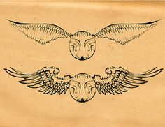 Golden Snitch Tattoo by Blind Thistle, via Flickr