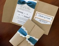 Country Wedding Invitation - Denim and lace wedding invitation suite - Country girl invitation - Barn Wedding Invitation - Teens invitation