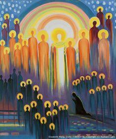 Evening Prayer Eve of All Saints Religious Images, Religious Art, All Souls Day, All Saints Day, Prophetic Art, Biblical Art, Church Banners, Catholic Art, Catholic Priest
