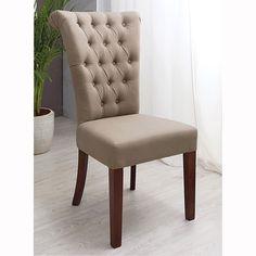 Chaise capitonnée en lin et frêne écrue | Pinterest | Sedie, Salotto ...
