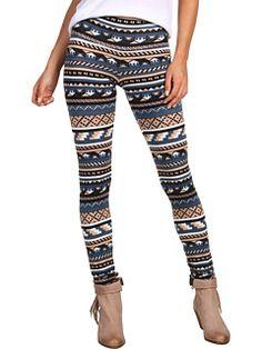 Long tribal print leggings