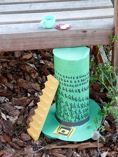 """St.Patty's Day fun!  Make a leprechaun hat trap & go on a leprechaun hunt (supply the kids with their own net- reused produce netting) for hours of fun.  Have the """"leprechaun"""" leave some treats at home while the hunt is going on!"""