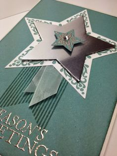 Linda Dalke: Simple Bright and Beautiful Stars Homemade Christmas Cards, Noel Christmas, Homemade Cards, Handmade Christmas, Fall Cards, Winter Cards, Holiday Cards, Making Greeting Cards, Greeting Cards Handmade