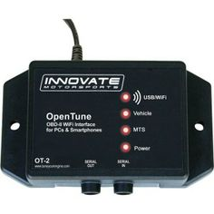 The Innovate Motorsports 3831 OT-2 OBD-II Wi-Fi Interface is an all-in-one, ultraportable solution that turns your iPhone, iPod Touch, iPad or PC into a powerful wireless OBD-II enabled automotive diagnostic tool. Powered by the free, downloadable LogWorks Mobile app available at the Apple App Store, the OT-2 unit wirelessly provides a variety of valuable automotive functionality and information via its OBD-II connection to your vehicle,