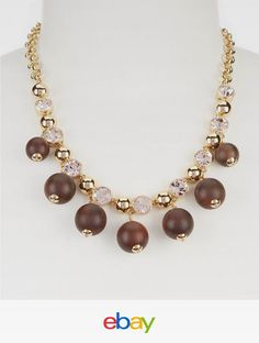 NEW!!! Kate Spade NY Second Nature Wood-Bead Collar Necklace: $128