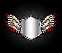 Racing Emblem Vector Illustration  #vector #ornate #symbol #decoration # #background # #design # #emblem # #art #shield #ray #fire #flames #flag #decor #abstract #illustration #Elegant #artwork #creative #image #racing Shield Logo, Sign Design, Vector Art, Vectors, Cool Designs, Racing, Symbols, Flag Decor, Abstract