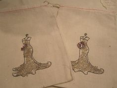 Hand Stamped Muslin Gift Bags  Sofia by frenchcountry1908 on Etsy, $6.75