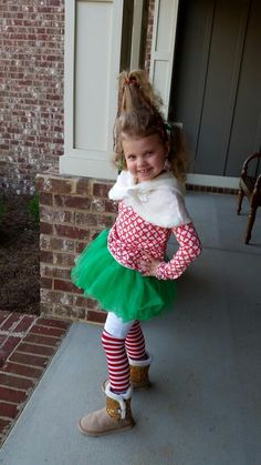 Diy Christmas Costumes Best Of 9 Best Diy Grinch Cindy Lou Christmas Costume Idea Images On. Diy Christmas Costumes, Whoville Costumes, Christmas Dress Up, Christmas Program, Ugly Christmas Sweater, Whoville Hair, Grinch Party Costume, Who From Whoville Costume, Dr Seuss Costumes