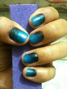 Nail art with sponge