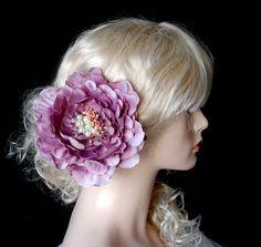 Wedding hairclip  Peony purple by wandadesign on Etsy, €20.00