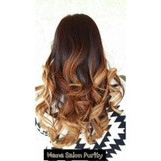 Subtle red brown to copper blonde ombre