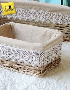 New sewing storage fabric diy crafts ideas Ramadan Decoration, Basket Decoration, Craft Storage, Storage Baskets, Diy Home Crafts, Diy Home Decor, Sewing Pattern Storage, Sewing Patterns, Diy Para A Casa