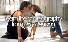 Learn the choreography from dirty dancing