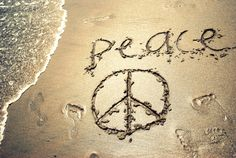 peace .. cool ... I'm very into carving things/words into the sand....LOOOL! :D <3